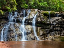 Amboro National Park waterfall