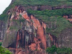 rock face of mountain in Amboro National Park