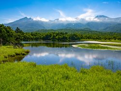 Shiretoko National Park lake landscape