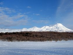 Shiretoko National Park winter landscape