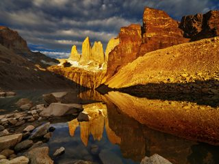 20210212161531-Torres del Paine National Park towers reflection with sunset.jpg