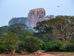 Yala National Park vertical granite rock